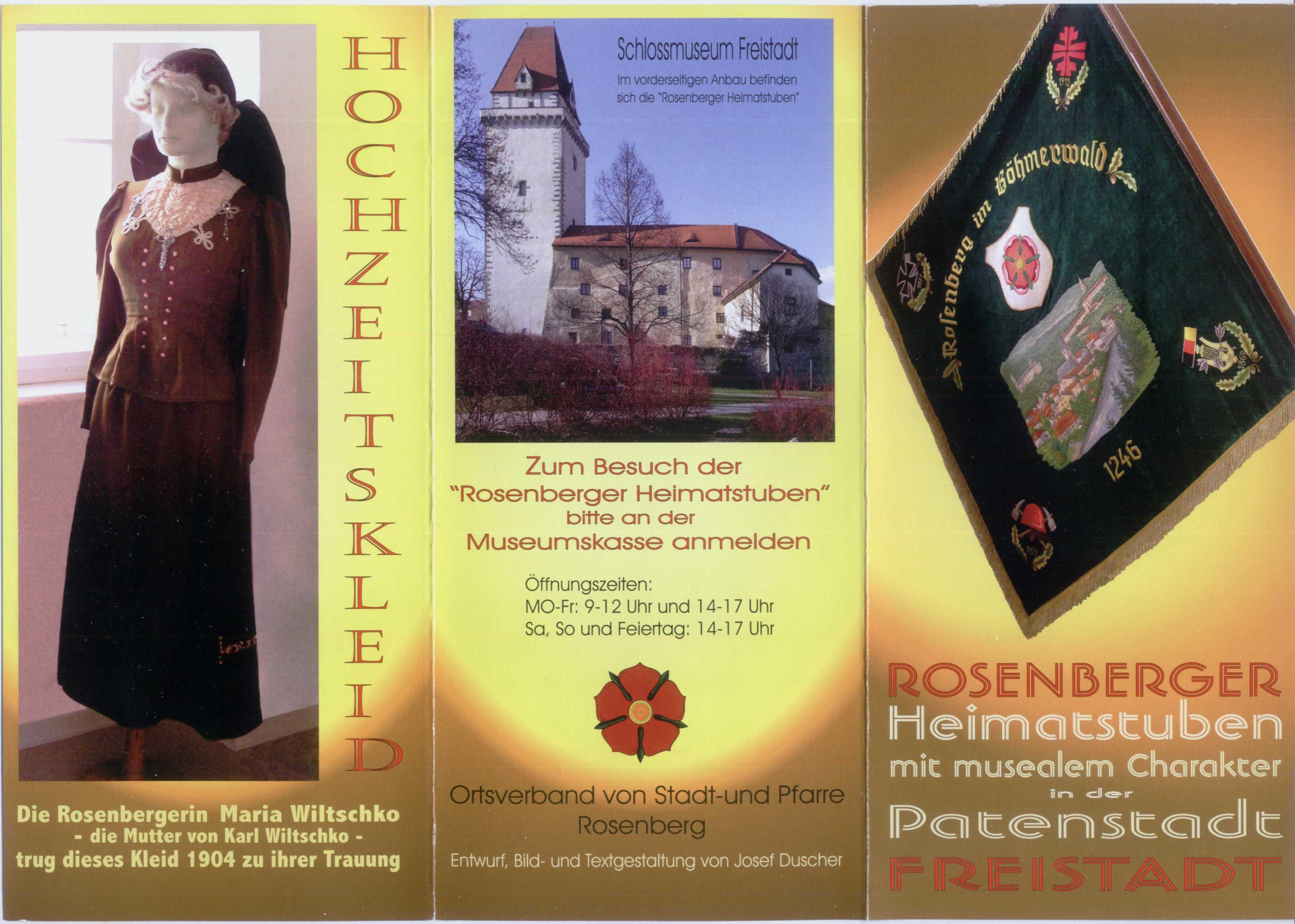 Flyer Rosenberger Heimatstube Seite 1