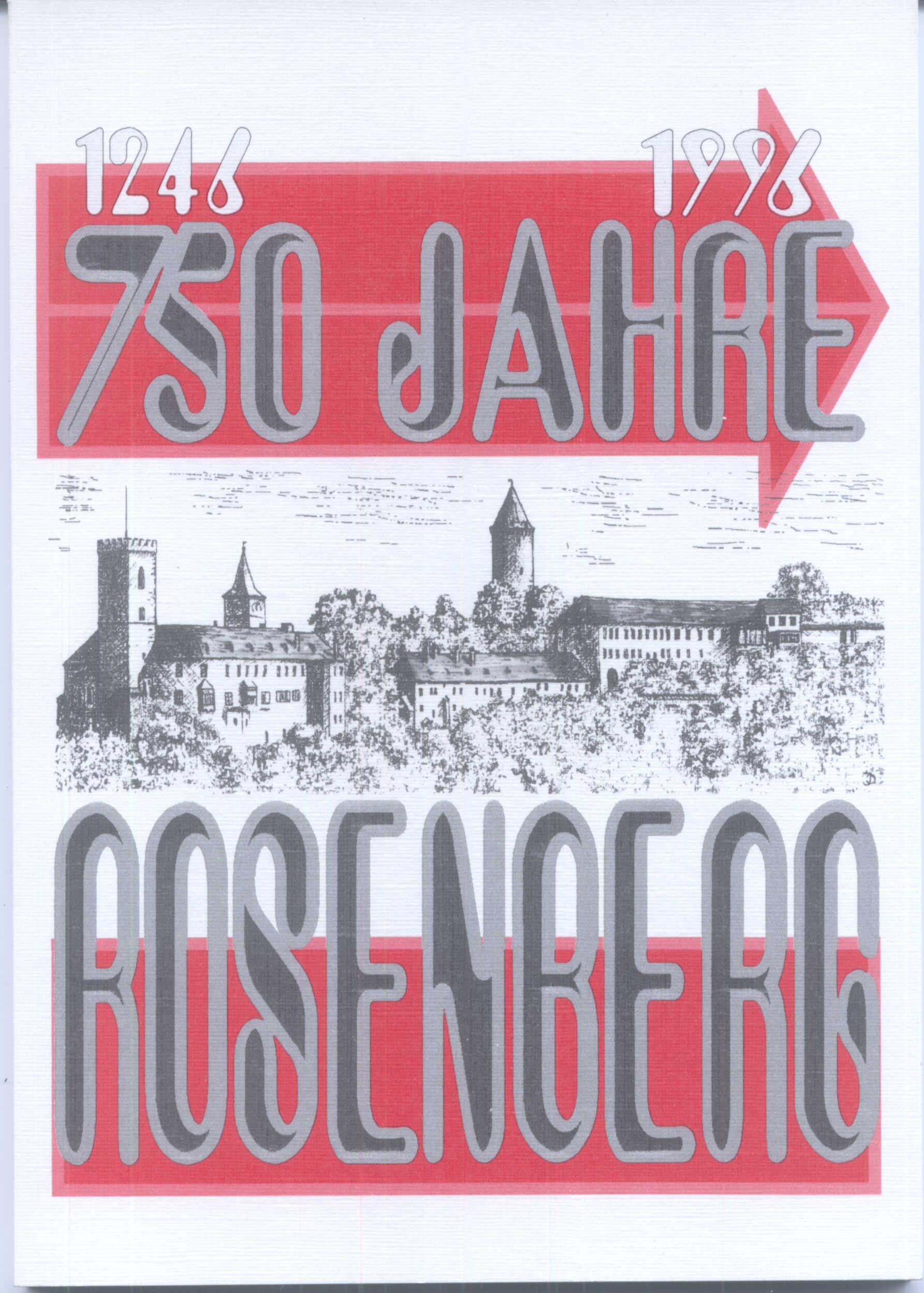 Frontseite Buch 750 Jahre Rosenberg