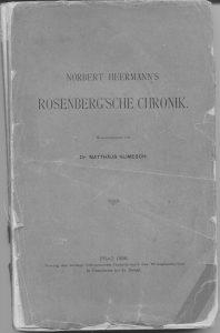 Rosenber'sche Chronik 1898